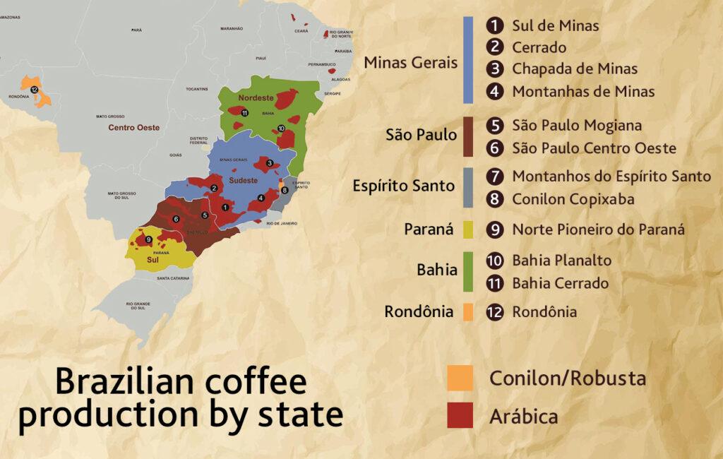 brazilian coffee regions